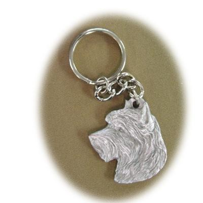 Pewter Key Chain I Love My Australian Terrier