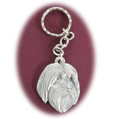 Pewter Key Chain I Love My Bearded Collie