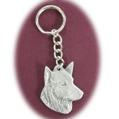 Pewter Key Chain I Love My Belgian Sheepdog