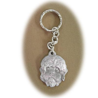 Pewter Key Chain I Love My Dandie Dinmont Terrier