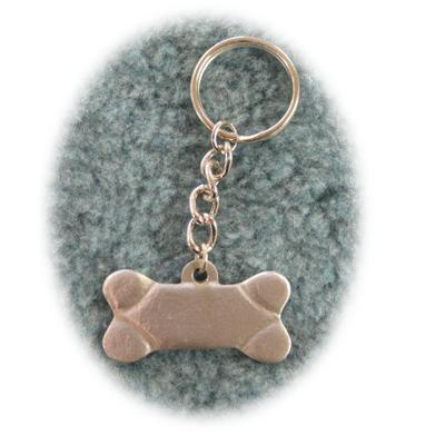 Pewter Key Chain Dog Bone I Love My Mutt