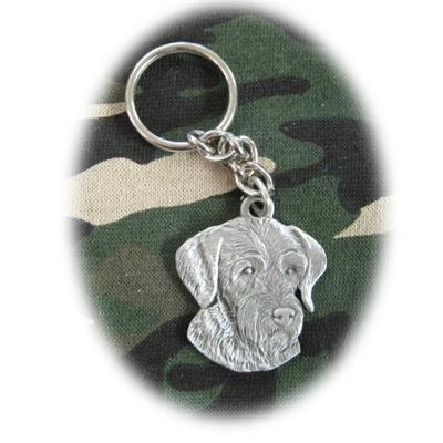 Pewter Key Chain I Love My German Wirehaired Pointer