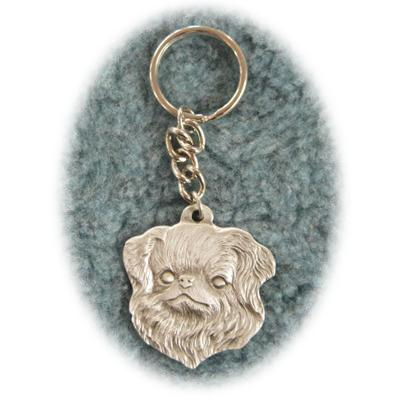 Pewter Key Chain I Love My Japanese Chin