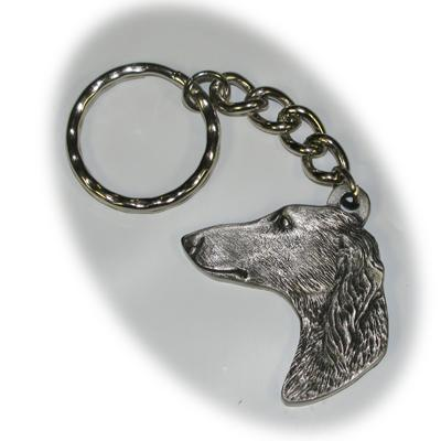 Pewter Key Chain I Love My Saluki