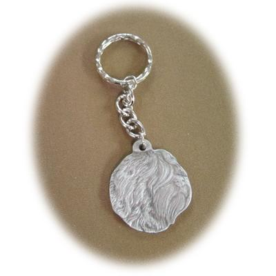 Pewter Key Chain I Love My Tibetan Terrier