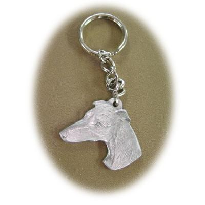 Pewter Key Chain I Love My Whippet