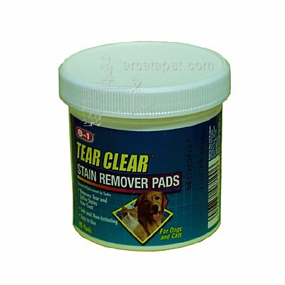 8-1 Clear Tear Stain Remover Pads