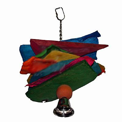 Leather and Chunks Parrot Toy
