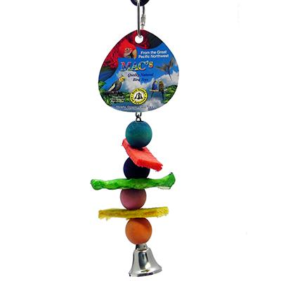 Rawhide Wafers and Wood Balls Md Parrot Toy