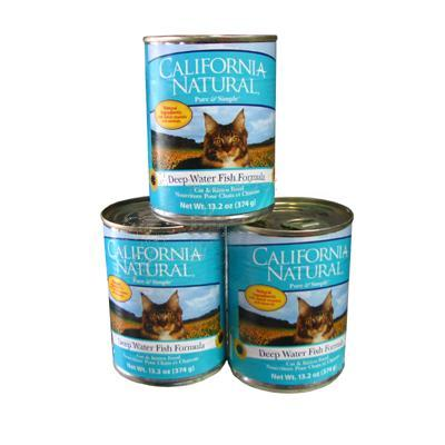 California Natural Deep Water Fish Can Cat Food Lg Case