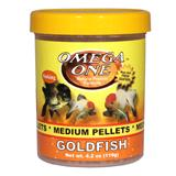 Omega One Medium Sinking Goldfish Pellets Fish Food 4.2-oz