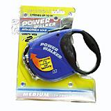 Power Walker Retractable Dog Leash Medium Blue