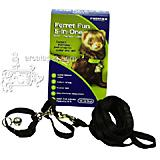 Ferret Fun Black Five in One Ferret Harness