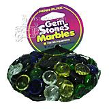 Gem Stones Flat Marbles Multicolor Aquarium Decoration