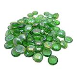 Gem Stones Flat Marbles Pearl Green Aquarium Decoration