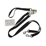 Pet Walker-Plus Nylon Leash 2-Dog Black Large