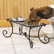 Pet Studio Wrought Iron Raised Dog Diner 2 Qt