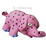 Latex Squeeze Meeze Pink Elephant Dog Toy