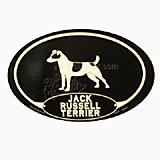 Euro Style Oval Dog Decal Jack Russell Terrier
