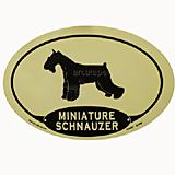 Euro Style Oval Dog Decal Minature Schnauzer