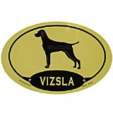 Euro Style Oval Dog Decal Vizsla