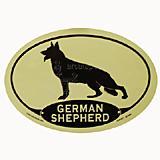 Euro Style Oval Dog Decal German Shepherd