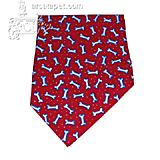 Dog Bandana Red Bones