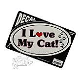 6-inch Oval I Love My Cat! Decal