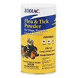 Zodiac Flea and Tick Powder Dog/Cat Citrus