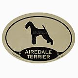 Euro Style Oval Dog Decal Airedale Terrier