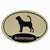 Euro Style Oval Dog Decal Bloodhound