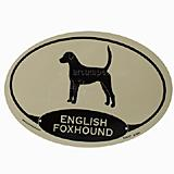 Euro Style Oval Dog Decal English Foxhound