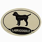 Euro Style Oval Dog Decal Labradoodle
