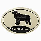 Euro Style Oval Dog Decal Newfoundland