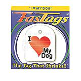 FasTags I Love My Dog Do-it-yourself Pet ID Tag