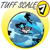 Tuffy's Flyer Jr Blue Camo Design Dog Toy