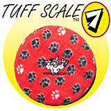 Tuffy's Flyer Jr Red Paw Design Dog Toy