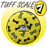 Tuffy's Flyer Jr Yellow Bone Design Dog Toy
