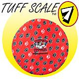 Tuffy's Sport Flyer Red Paw Design Dog Toy