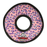 Tuffy's Ultimate Rumble Ring Pink Leopard Dog Toy