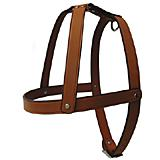 Tan Leather Dog Harness 3/8 x 14 inch
