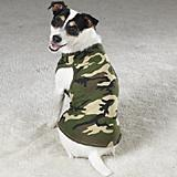 Green/Black Camo Dog Tank Top Xsmall