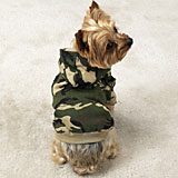 Green Camouflage Hoodie Dog Jacket Xlarge