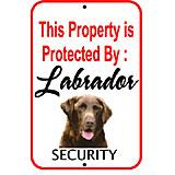 Sign Labrador Chocolate Security 12 x 18 inch Aluminum