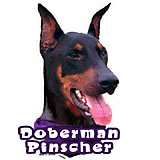 6-inch Vinyl Dog Decal Doberman Picture