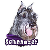 6-inch Vinyl Dog Decal Schnauzer Cropped Ears Picture