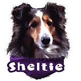 6-inch Vinyl Dog Decal Sheltie Picture