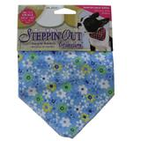Dog Bandana Blue Flower Small