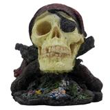 Sea-Pirate Skull aquarium ornament