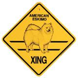 Xing Sign American Eskimo Plastic 10.5 x 10.5 inches